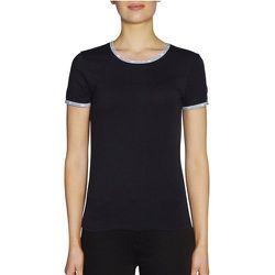 Tee shirt manches courtes col rond LOGO TRIM - Calvin Klein - Modalova