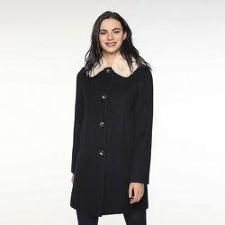 Manteau laine et alpaga à col amovible COULLONS - TRENCH AND COAT - Modalova