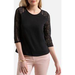 Tee shirt sans col avec manches dentelle - Anne weyburn - Modalova