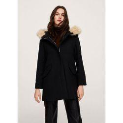 Manteau laine à zips - Mango - Modalova