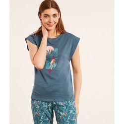 Haut de pyjama t-shirt manches courtes imprimé BLAISE - ETAM - Modalova