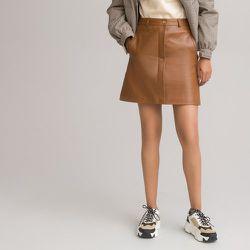 Jupe droite courte en cuir - LA REDOUTE COLLECTIONS - Modalova