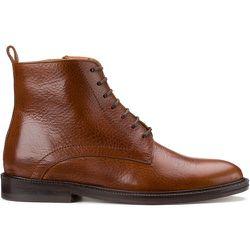 Boots en cuir talon plat - ANTHOLOGY PARIS - Modalova
