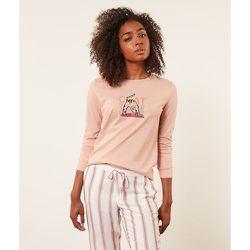 Haut de pyjama T-shirt manches longues 'chat tête en bas' YOCAT - ETAM - Modalova