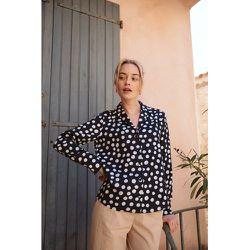 Chemise 100% coton col pyjama Black or White - SOI PARIS - Modalova