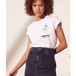 T-shirt 'woman up' WOVEN - ETAM - Modalova