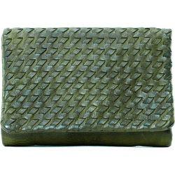 Portefeuille porte-monnaie en cuir tressé ATACAMA - OH MY BAG - Modalova