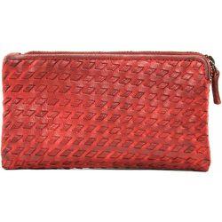 Portefeuille porte-monnaie en cuir tressé SAHARA - OH MY BAG - Modalova