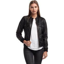 Blouson cuir style biker poches à rabat OLIV - CHYSTON - Modalova