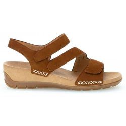 Sandales suede talon compensé recouvert - Gabor - Modalova