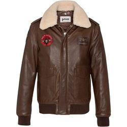 Veste aviateur en cuir de vachette - Schott - Modalova