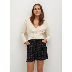 Short tweed ceinture - Mango - Modalova