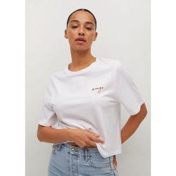 T-shirt 100% coton recyclé - Mango - Modalova