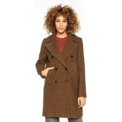 Manteau pure laine à carreaux CAUDRY - TRENCH AND COAT - Modalova