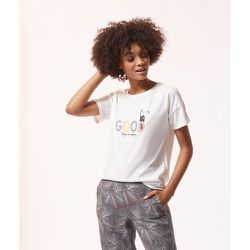 Haut de pyjama t-shirt message IZZY - ETAM - Modalova
