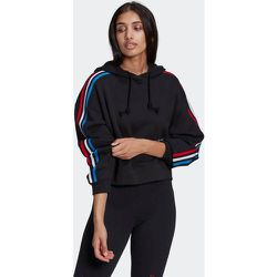 Sweat-shirt à capuche Adicolor Tricolor Crop - adidas Originals - Modalova