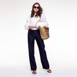 Pantalon droit et large - CHEMINS BLANCS - Modalova