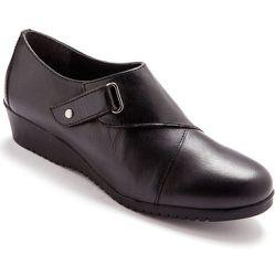 Derbies cuir à patte auto-agrippante largeur confort - SECRETS DE MODE - Modalova