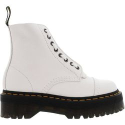 Boots cuir grainé plateforme SINCLAIR WHITE MILLED NAPPA - Dr Martens - Modalova