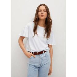 T-shirt en coton à volants - Mango - Modalova