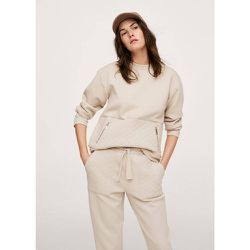 Sweat-shirt coton texturé - Mango - Modalova