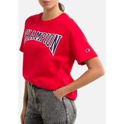 T-shirt court col rond, logo, coton bio - Champion - Modalova