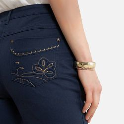 Pantalon droit, sergé stretch - Anne weyburn - Modalova
