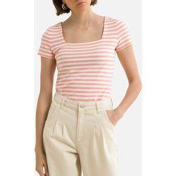 T-shirt encolure carrée manches courtes rayé - Esprit - Modalova