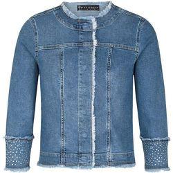 Veste en jeans délavé et manches strassées BIANCO - BLEU D'AZUR - Modalova