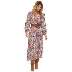 Robe longue à fleurs - BURTON OF LONDON - Modalova