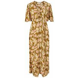 Robe longue Imprimé fleuri - Pieces - Modalova