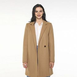 Manteau en sergé de laine vierge épuré VESOUL - TRENCH AND COAT - Modalova