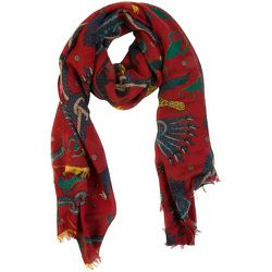 Écharpe en laine à motifs psychédéliques - ATELIER F&B - Modalova