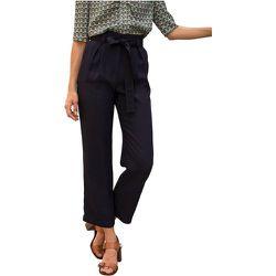 Pantalon en viscose taille haute ceinturé PYLAR - CHEMINS BLANCS - Modalova