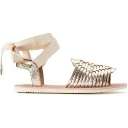 Sandales tressées en cuir Ella - LES TROPEZIENNES PAR M BELARBI - Modalova