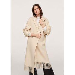 Manteau en laine à franges - Mango - Modalova