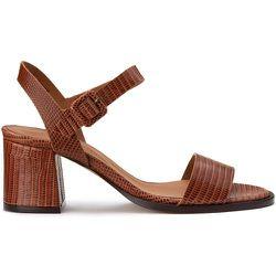 Sandales en cuir talon large - ANTHOLOGY PARIS - Modalova