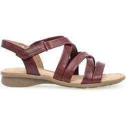 Sandales à semelles plates cuir talon décroché - Gabor - Modalova