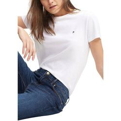 Tee shirt en coton bio col rond manches courtes - Tommy Hilfiger - Modalova