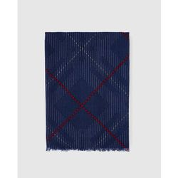 Foulard en laine imprimé à carreaux - GLORIA ORTIZ - Modalova