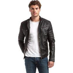 Blouson en cuir style biker FLASH - CHYSTON - Modalova