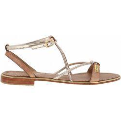 Sandales cuir petit talon plat HIRONDEL - LES TROPEZIENNES PAR M BELARBI - Modalova