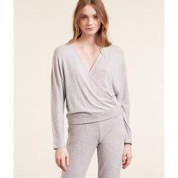 Haut de pyjama T-shirt cache-coeur manches longues CEREN - ETAM - Modalova
