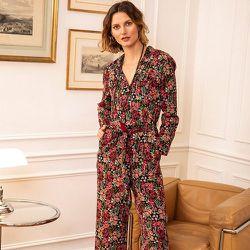 Combinaison pantalon à l'imprimé floral - CHEMINS BLANCS - Modalova
