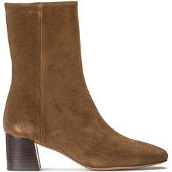 Boots en cuir à talon large DUNIA - ANTHOLOGY PARIS - Modalova