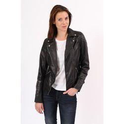 Blouson cuir style biker multipocket ALEXINE - CHYSTON - Modalova