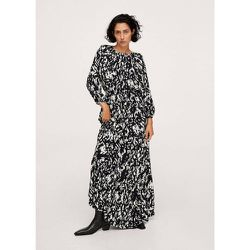 Robe longue imprimée - Mango - Modalova