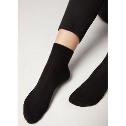 Chaussettes courtes côtelées en coton et cachemire - CALZEDONIA - Modalova