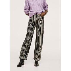 Pantalon imprimé à rayures - Mango - Modalova