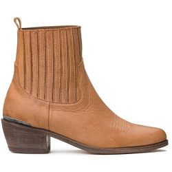 Boots en cuir talon large TALIA - ANTHOLOGY PARIS - Modalova